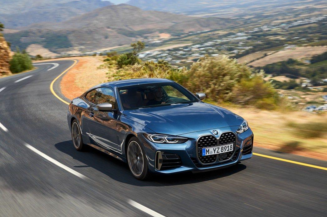 全新世代BMW 4系列雙門跑車車身和底盤都採輕量化設計,進一步降低空氣阻力與升力...