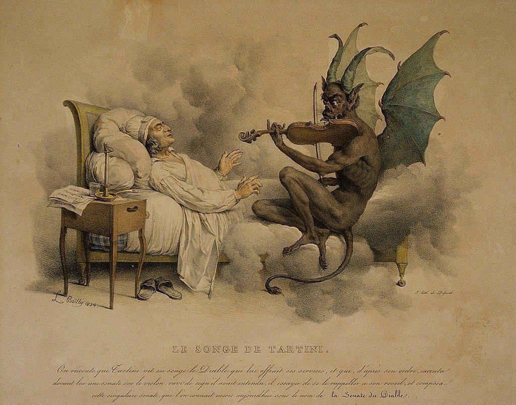 塔替尼作品《魔鬼的顫音》後來出現在各種以魔鬼為主題的內容中。 圖/維基共享