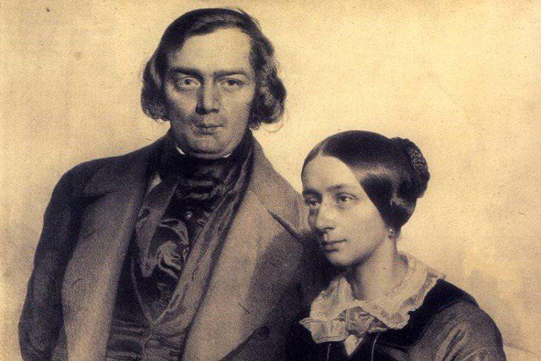 舒曼與妻子克拉啦。 圖/維基共享