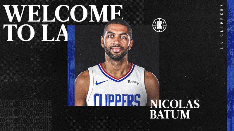 洛杉磯快艇官方正式宣佈,與老將貝頓(Nicolas Batum)已經達成協議,將會穿上33號球衣。 截圖自快艇官方推特