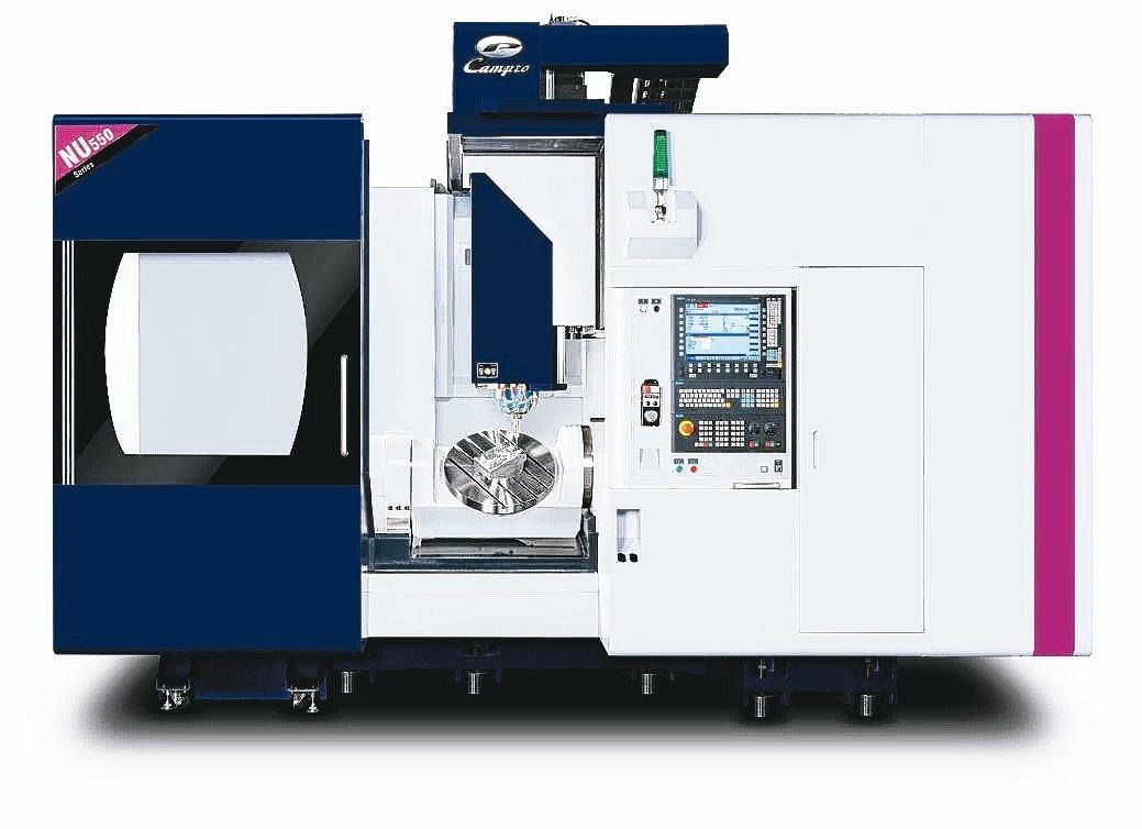 凱柏產製NU 550彈性生產五軸加工機榮獲台灣精品獎銀質獎。 凱柏公司/提供