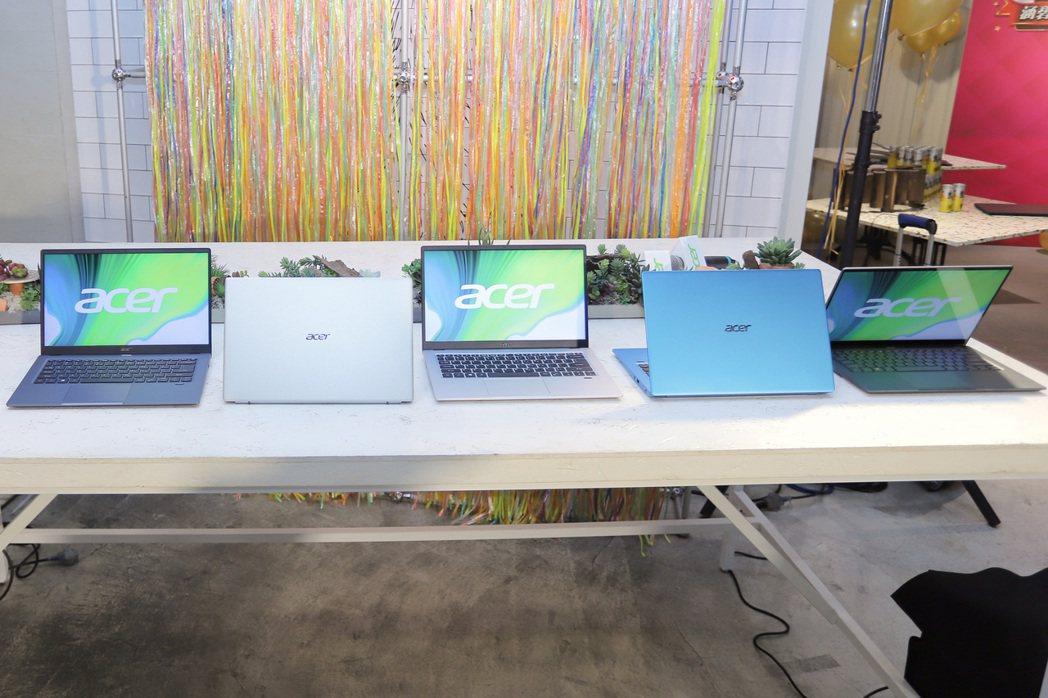 宏碁為迎接雙12購物節,全新搭載第11代Intel Core處理器系列的輕薄產品...
