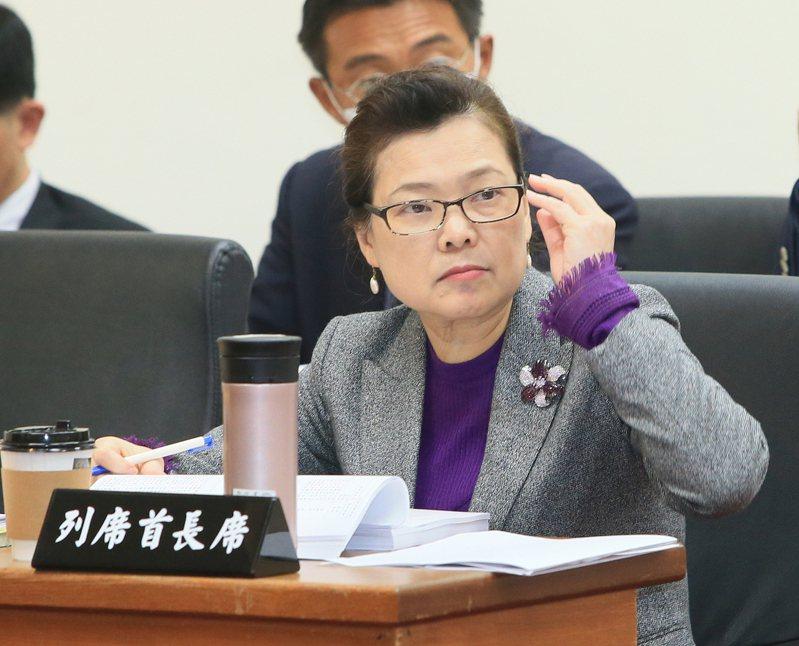 經濟部長王美花(右)今天出席立法院經濟委員會,回應立委對相關預算的質疑。 記者潘俊宏/攝影