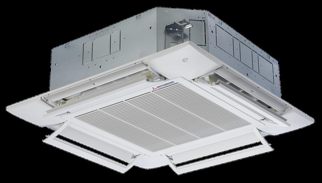 三菱重工PAC嵌入式四方吹,AirFlex專利導風葉片,送風更寬廣。 上洋/提供