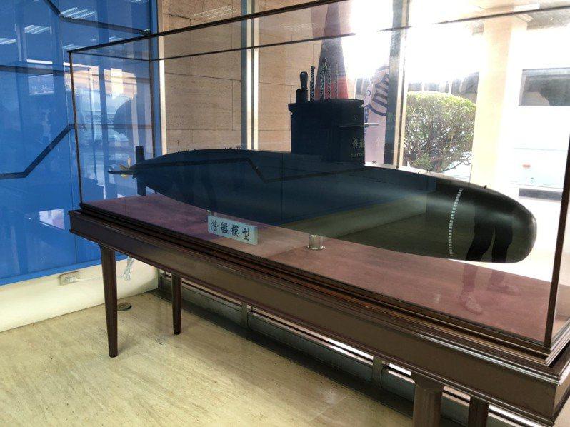 潛艦國造的原型艦模式示意圖。 聯合報系資料照/記者林敬殷攝影