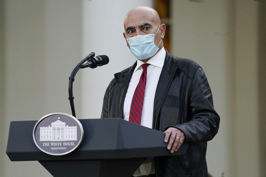 美國政府新冠病毒疫苗研發計畫「神速任務」負責人史勞伊。䓺聯社