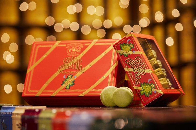 耶誕限定的茶香系列馬卡龍。圖/TWG Tea提供