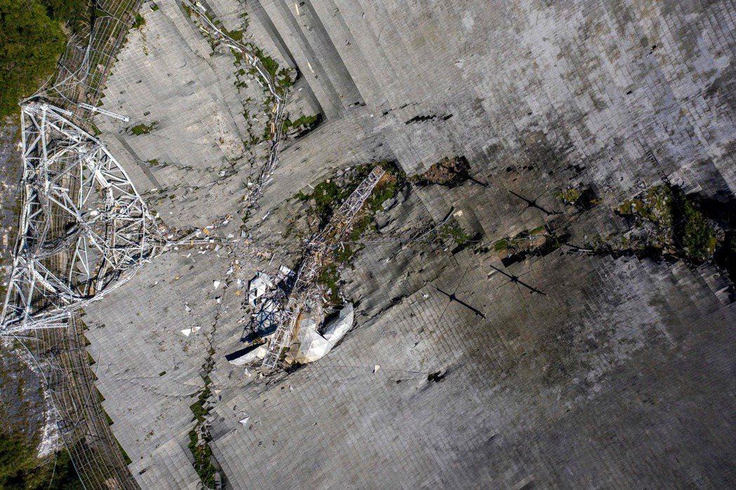 位於波多黎各的阿雷西博天文台1日發生崩塌,重達900噸的電子接收器墜落到450英...
