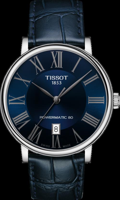 天梭表Carson自動上鍊腕表,不鏽鋼表殼19,400元。圖/TISSOT提供