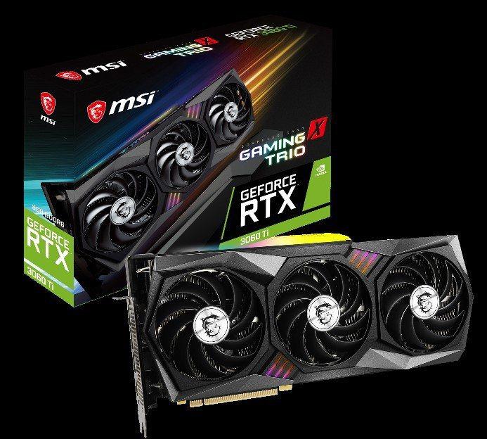 微星科技發布 GeForce RTX 3060Ti系列顯卡。圖/微星提供