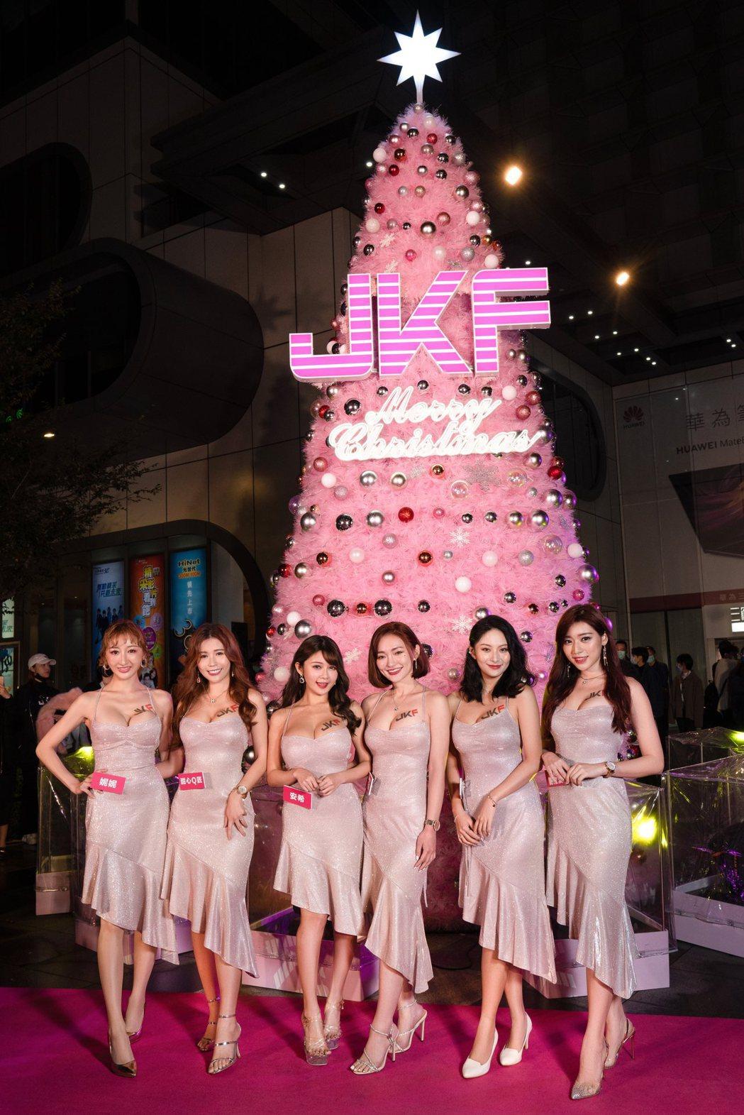 JKF女郎們盛裝出席點燈儀式。圖/JKF提供