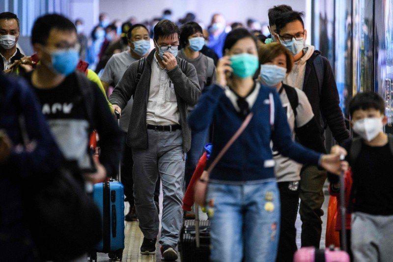 香港疫情惡化。圖/取自法新社