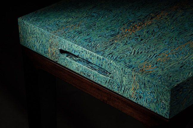 陳仁毅設計「無念」贊直琴桌系列細節。圖/ 邦瀚斯提供