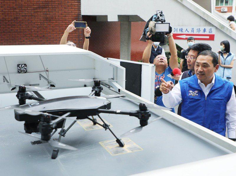 新北市有20名員警擁有專業證照,屆時將利用無人機來偵破刑案、區域巡邏,若成效良好,將有可能再增加人、機。圖/新北市警察局提供