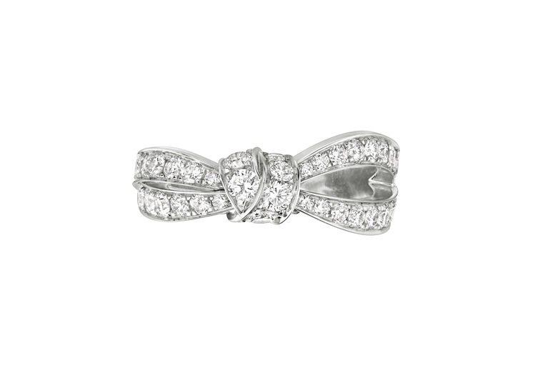 CHAUMET Liens Séduction戒指,18K白金鑲嵌明亮式切割鑽...