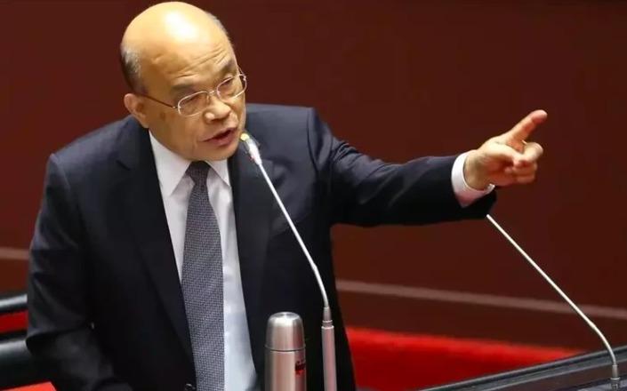 行政院長蘇貞昌在立法院接受質詢萊豬議題,指信功公司「很支持」。本報資料照片