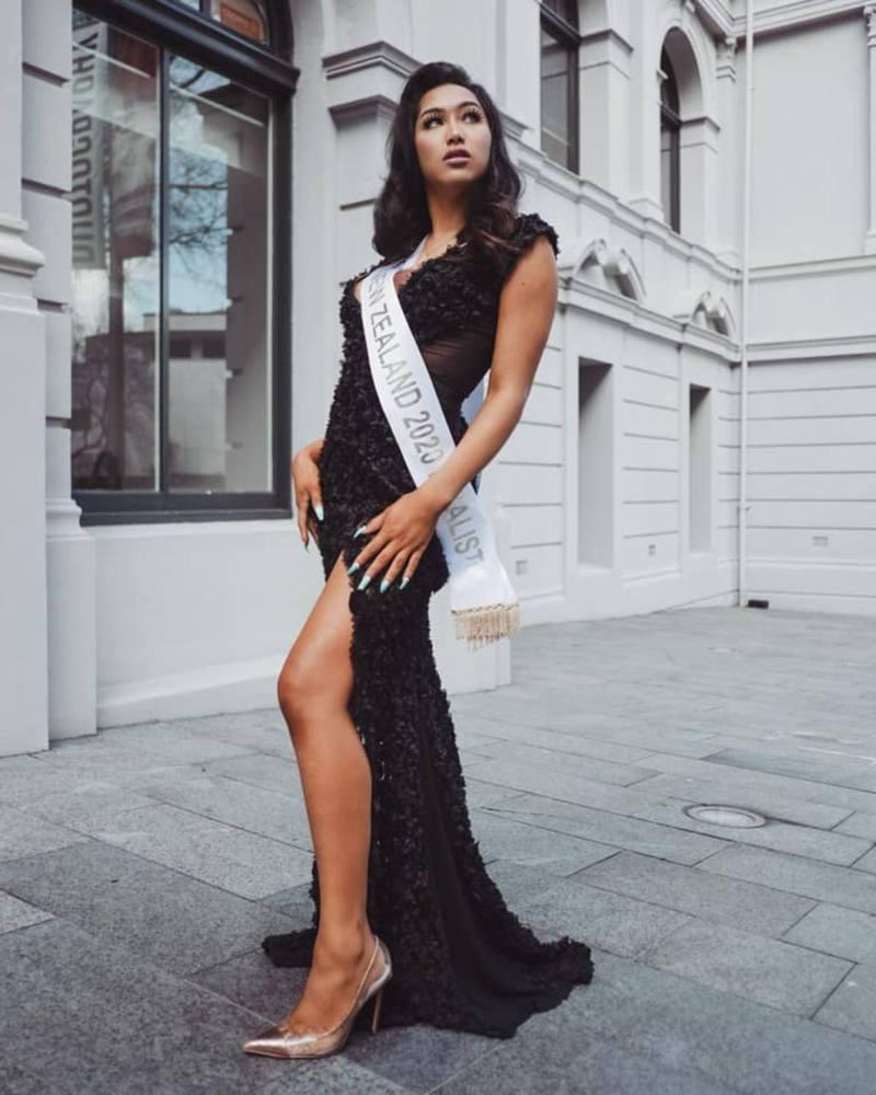 凱爾參加2020年度紐西蘭洲際小姐大賽,奪得冠軍。(Facebook圖片)