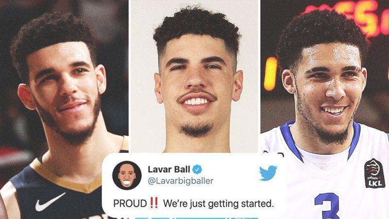 鮑爾家二哥利安吉洛(中)以無保障一年約加入活塞後,鮑爾三兄弟都齊聚NBA了! 截圖自ESPN官方推特