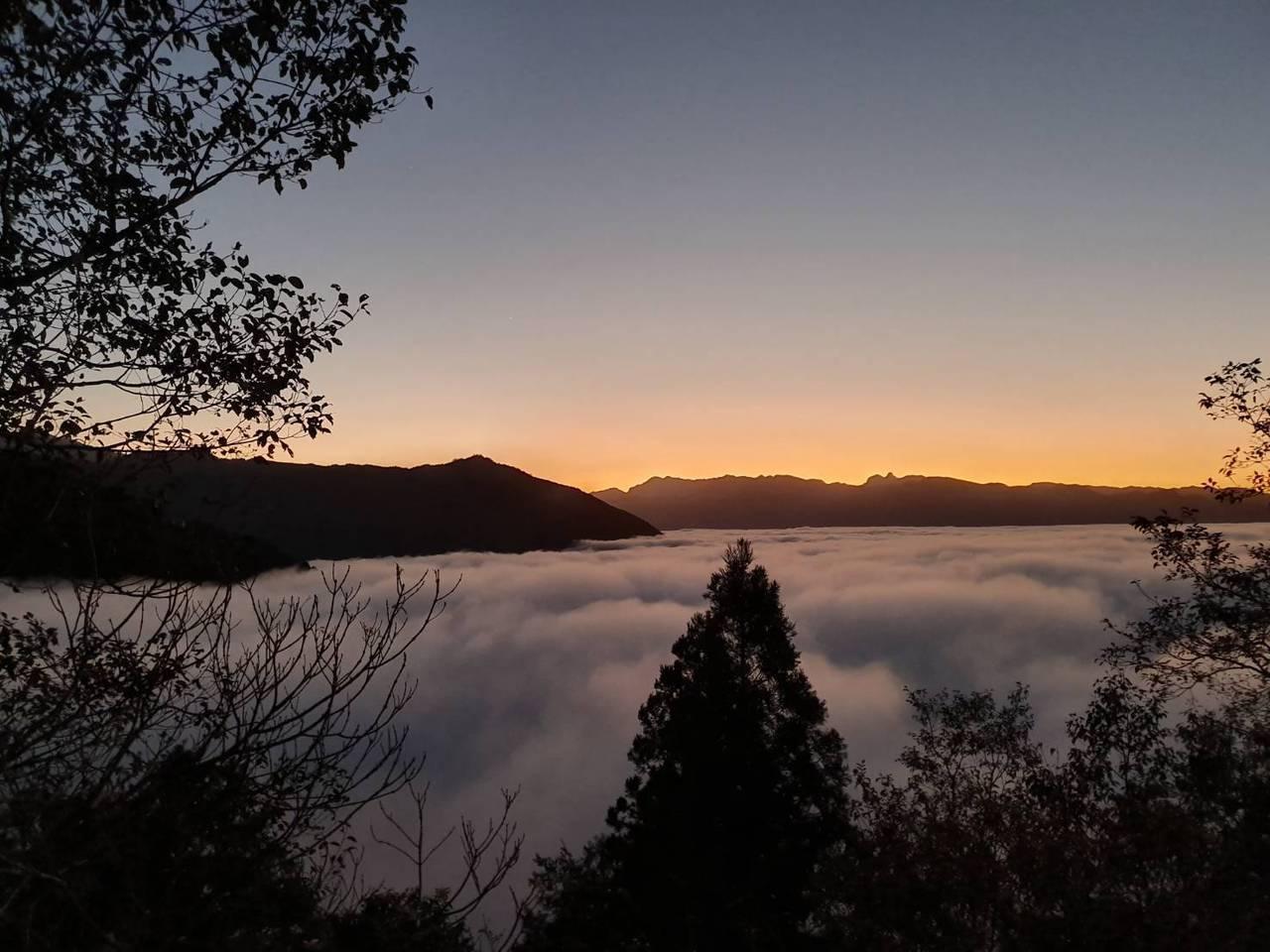 太平山宜專一線22公里到24公里的雲瀑。  圖/羅東林管處提供