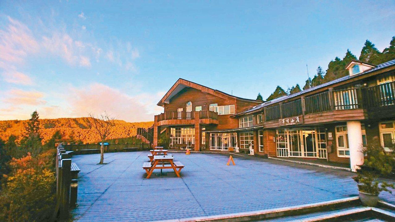 太平山國家森林遊樂區的翠峰山屋。 圖/羅東林管處提供