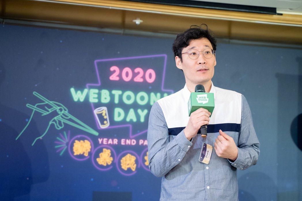 LINE WEBTOON台灣事業部總經理李仁植接受《500輯》專訪。 圖/L...