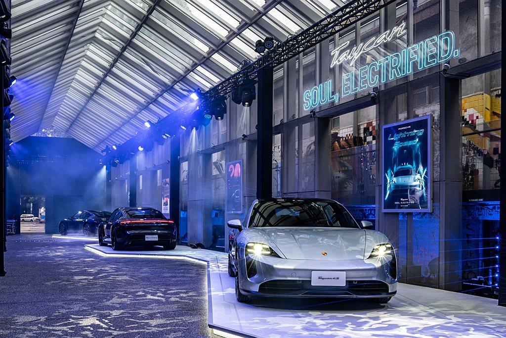 保時捷純電四門跑車Taycan正式在台發表上市。 圖/Porsche提供