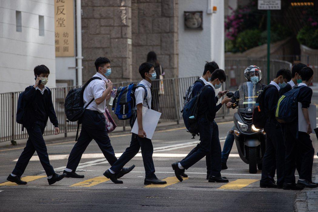 香港政府近日表明將改革中學通識教育課程。 圖/歐新社