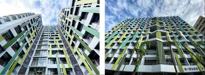 新設建築採正能量設計(第一學生宿舍)。 臺科大/提供