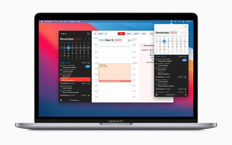 Mac年度最佳App「Fantastical」。圖/蘋果提供
