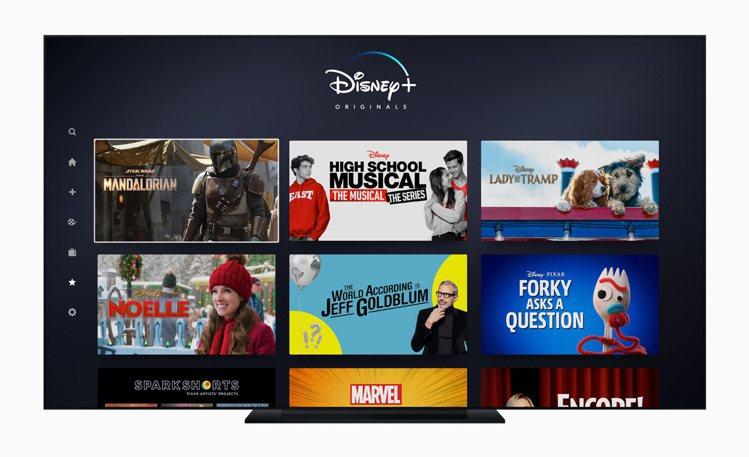 Apple TV年度最佳App「Disney+」。圖/蘋果提供