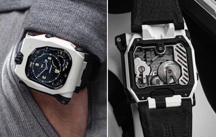 醉心於科幻文化的Urwerk,推出一只EMC Time Hunter White...