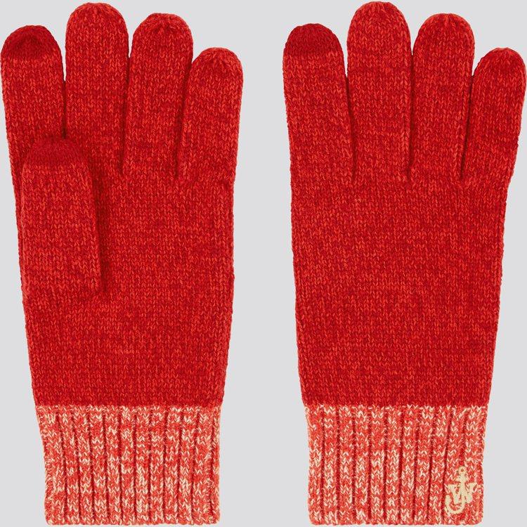 UNIQLO與JW ANDERSON聯名系列耶誕限定手套590元。圖/UNIQL...