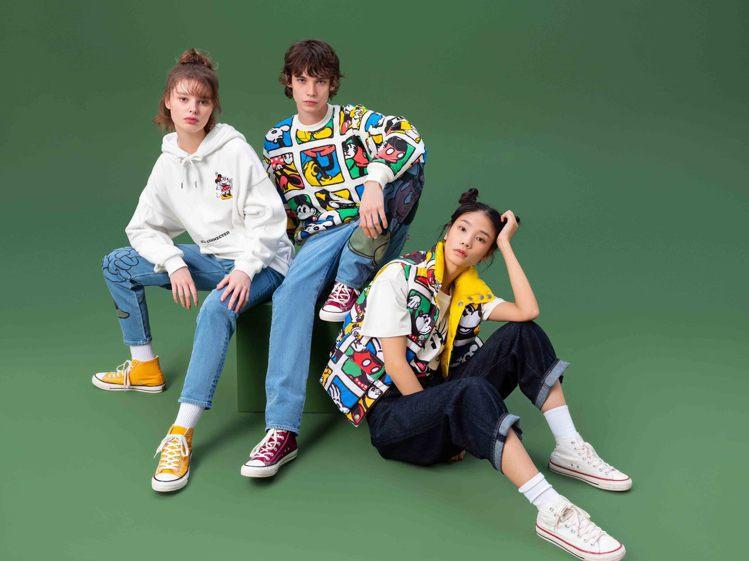 牛仔褲大廠LEVI'S與迪士尼合作,在服裝與褲款上,重現40年代風格的...