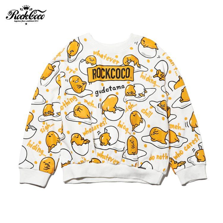 ROCKCOCO X 蛋黃哥系列滿滿福蛋長袖上衣2,080元。圖/ROCKCOC...