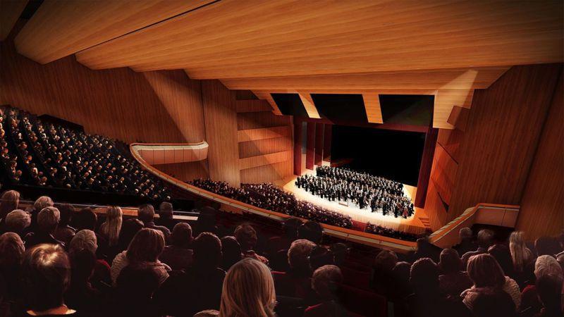 基隆市立文化中心演藝廳暨周邊裝修工程今天開工,圖為完工後示意圖。圖/基隆市政府提供
