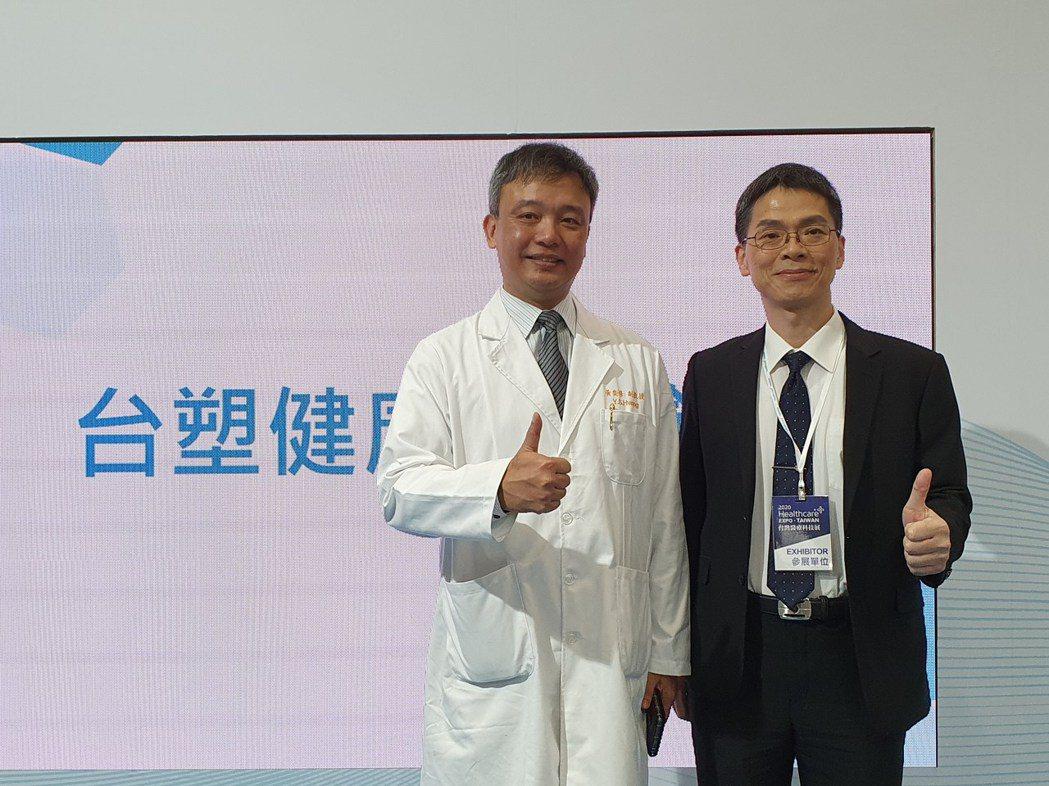 台塑生醫副總劉慧啟(右)。(記者曾仁凱/攝影)