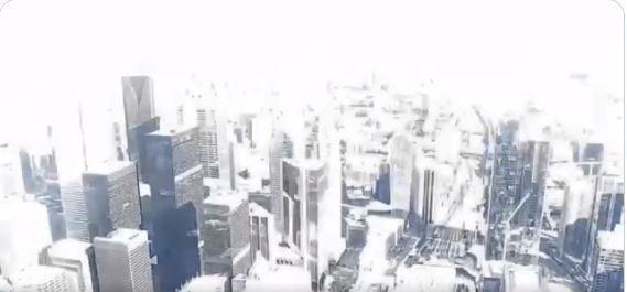 紐約市中心上州上空二日神秘白光閃爍,並傳來巨響,疑似是流星劃過大氣所致。(擷取自...