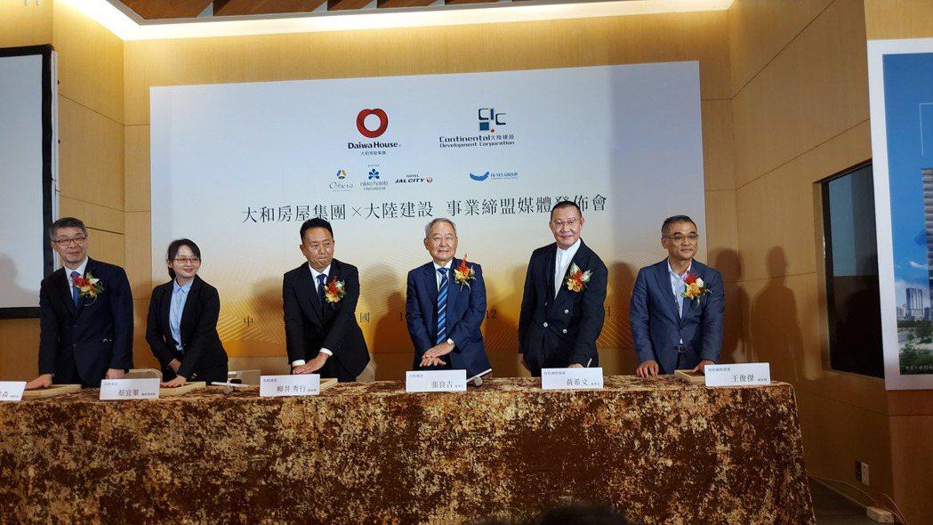 大陸建設昨(3)日宣布進軍南台灣高雄首案「和陸寓邸」,攜手首次插旗台灣的大和房屋...