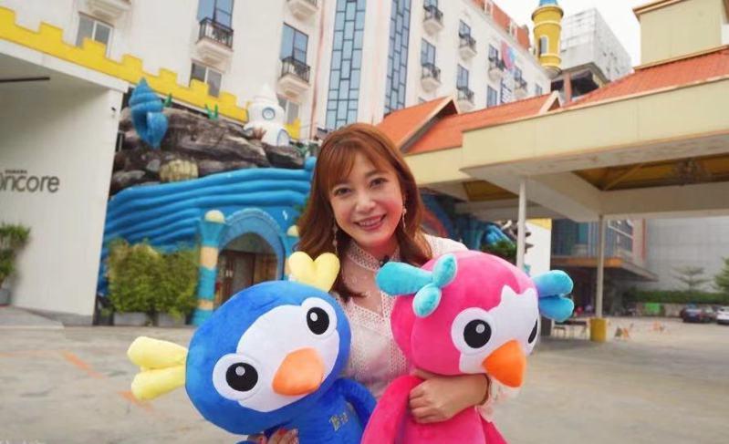 蘋果姐姐彭薇霖赴廣州打造親子酒店。圖/本報廣州傳真