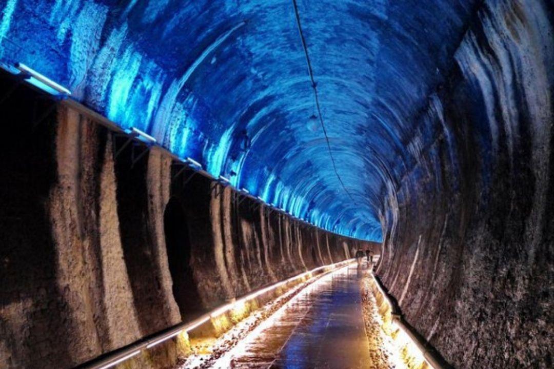 苗栗市功維敘隧道3處入口全程沒有任何階梯,老人、輪椅等都可以輕鬆遊。 圖/本報系...