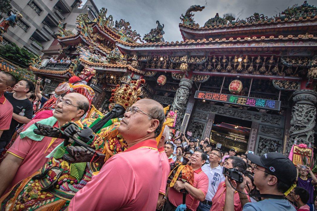 新莊地藏庵,俗稱「大眾廟」,是僅次於慈祐宮的第二古老廟宇。 圖/刊物「新莊騷」提...
