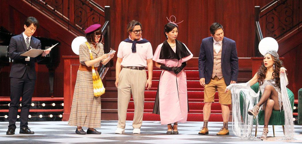 熟齡主題舞台劇「明星養老院」在高雄文化中心至德堂熱鬧登場。記者劉學聖/攝影