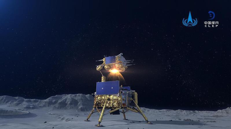 大陸探月工程「嫦娥五號」。圖/取自中國探月