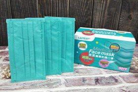 這顏色太美!萊爾富限量5萬盒「松石綠」萊禮生醫炫彩醫療口罩12/6開賣