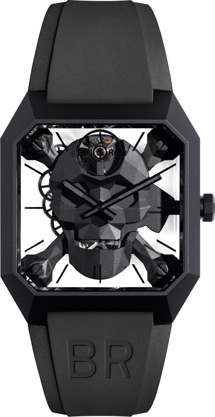Bell & Ross Cyber Skull BR 01腕表,黑色陶瓷、鏤空手...