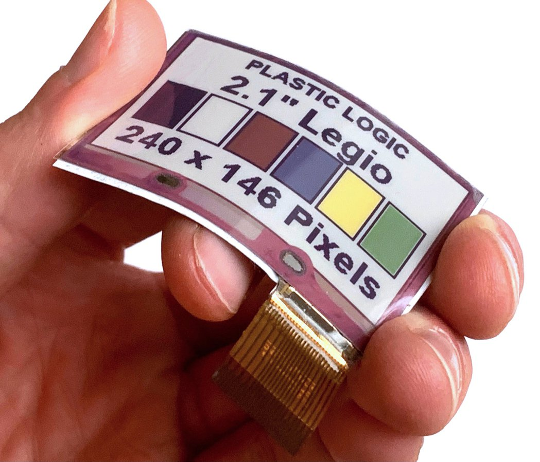 E Ink元太科技與Plastic Logic推出首款軟性全彩電子紙,拓展全彩電...