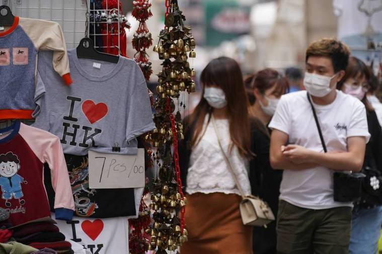 香港疫情惡化。路透社