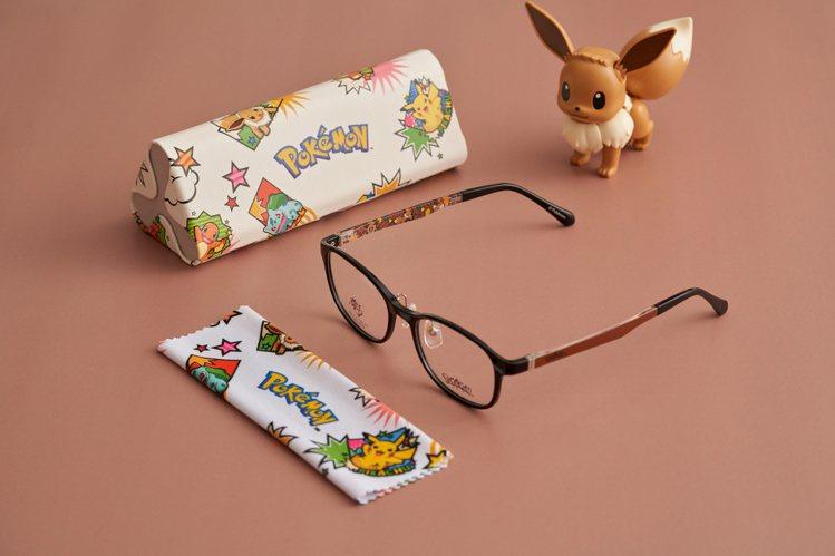 小林眼鏡寶可夢聯名動漫款眼鏡組合1,880元起。圖/小林眼鏡提供