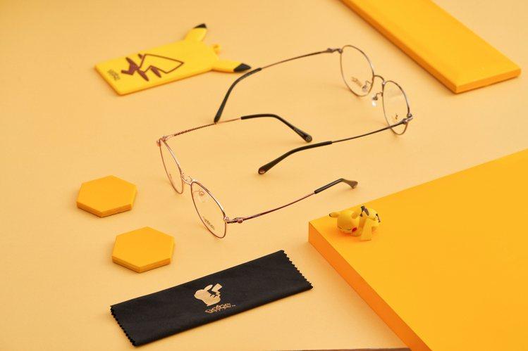 小林眼鏡寶可夢聯名典藏款眼鏡組合2,880元起。圖/小林眼鏡提供