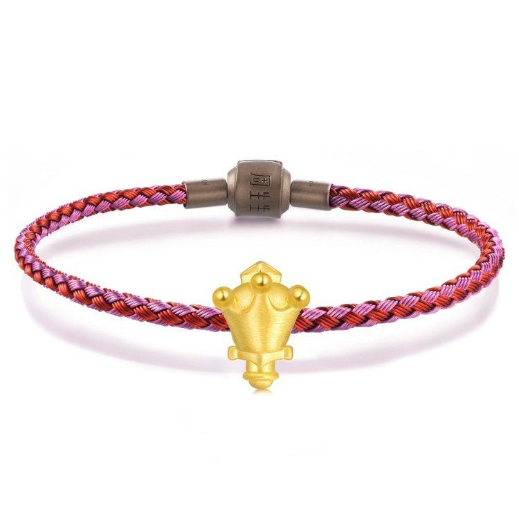點睛品Charme「星運神話系列」寶劍足金串飾,不含皮繩,10,400元。圖/點...
